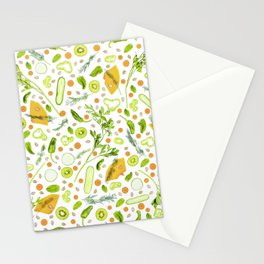 Fruits and vegetables pattern (20) Stationery Cards
