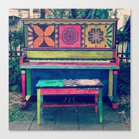 funky Canvas Prints featuring Funky by Annie Langseth