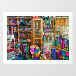 Kitty Heaven Art Print
