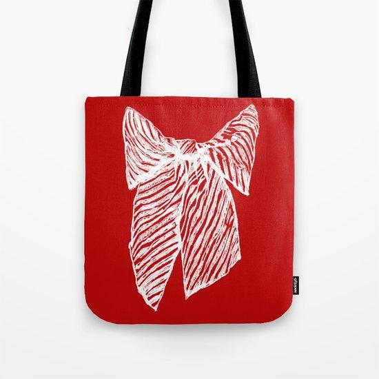 White bow Tote Bag