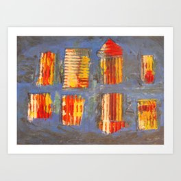 Colourful City Art Print