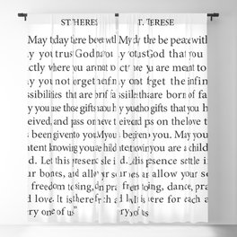 St. Therese Quote, May Today There be Peace, Blackout Curtain