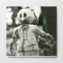 The smiley face scarecrow Metal Print