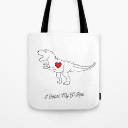 I HEART MY T-REX Tote Bag