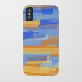 Orange and Blue Stripes iPhone Case