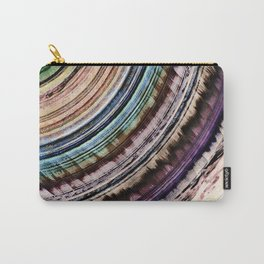 Abstract Textural Rings Carry-All Pouch