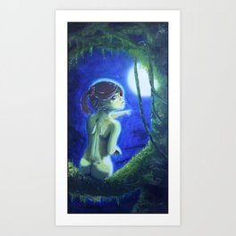 """Nude Tree Hugger Moonlight"", by A.S.O. Art Print"