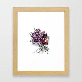 Vintage Lavender Bouquet Framed Art Print