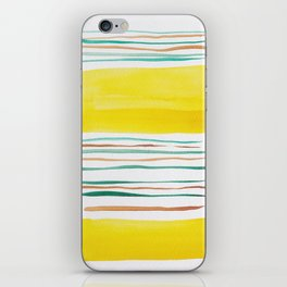 13  |181026 Lines & Color Block | Watercolor Abstract | Modern Watercolor Art iPhone Skin