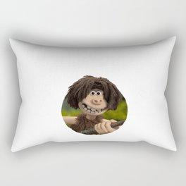 early man dug Rectangular Pillow