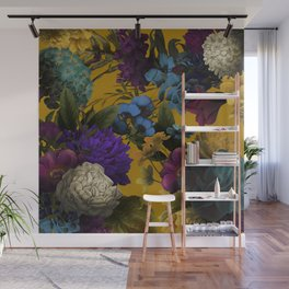 Wildflowers Melancholy ochre Wall Mural