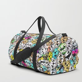 Gemstone Pugs Dogs Duffle Bag