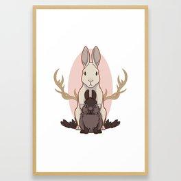 eat the rude Framed Art Print