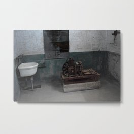 Sink and Motor, Ellis Island Metal Print