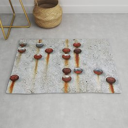 Rusty Buttons 2 Rug