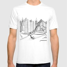 fantastic house MEDIUM Mens Fitted Tee White