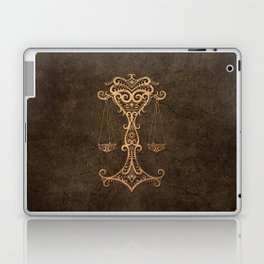Vintage Rustic Libra Zodiac Sign Laptop & iPad Skin