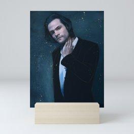Jared Padalecki. Blue Mini Art Print