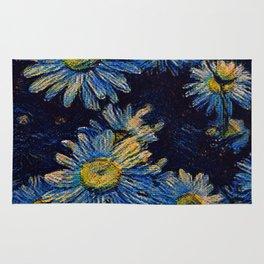 Van Gogh Daisies Rug