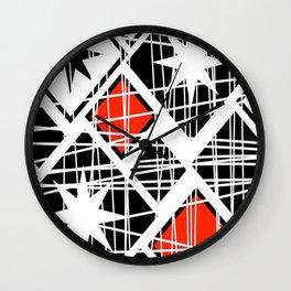 Scribbly Diamonds Wall Clock