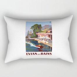 1937 France Evian-Les-Bains Travel Poster Rectangular Pillow