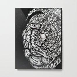 Biomechanical abstract Metal Print