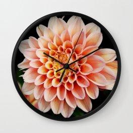 Light Orange Dahlia Wall Clock