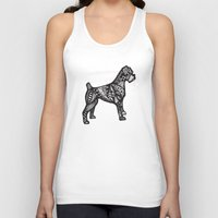 boxer Tank Tops featuring Boxer by creative.court