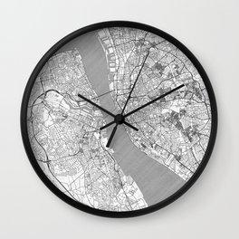 Liverpool Map Line Wall Clock