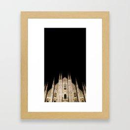 Duomo in the Dark Framed Art Print