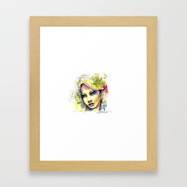Abstract watercolor portrait Framed Art Print