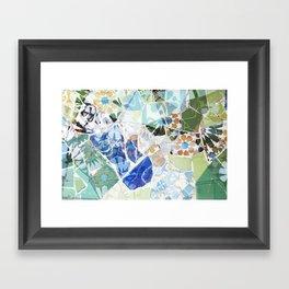 Mosaic of Barcelona VII Framed Art Print