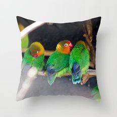 Agapornis Fischeri Throw Pillow