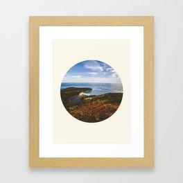 Autumn Forest Meets Ocean Framed Art Print