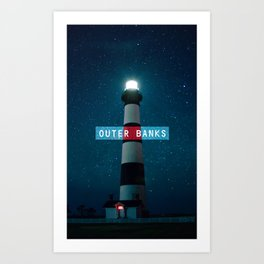 Outer Banks - Bodie Island Lighthouse. Art Print
