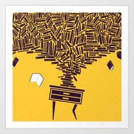 Despendientes -  Bedside table avalanche Art Print