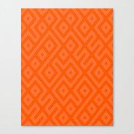 Orange Tec Canvas Print