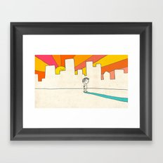 if i had eyes at the back of my head, i wouldn't have to miss the sunset on my way home Framed Art Print