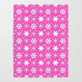 Snowflakes Pink Poster