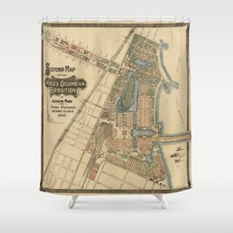 Chicago World Exposition 1893 Shower Curtain