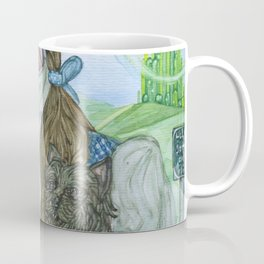 Dorothy and Toto painting, Coombes Coffee Mug