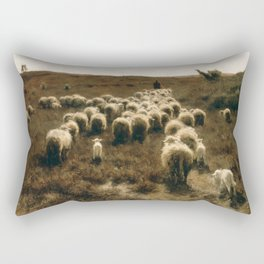 The Return of the Flock, Laren by Anton Mauve Rectangular Pillow