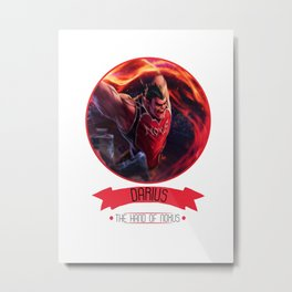 League Of Legends - Darius Metal Print