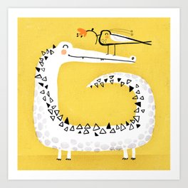 CROCODILE GIFT Art Print