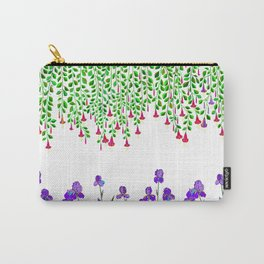 A Colorful Garden of Iris and Trumpets, Hanging Garden Carry-All Pouch