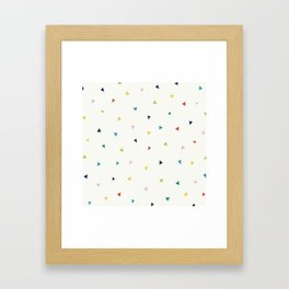 Cute Confetti Pattern Framed Art Print