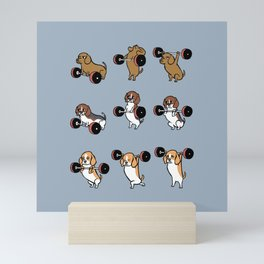 Olympic Lifting Beagles Mini Art Print