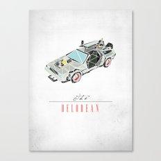 The Delorean Canvas Print