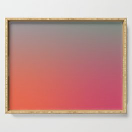 STRINGS OF LIGHT - Minimal Plain Soft Mood Color Blend Prints Serving Tray