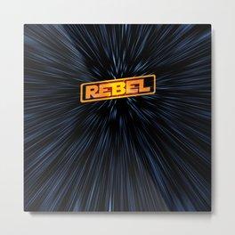 Warp Speed Rebel Metal Print